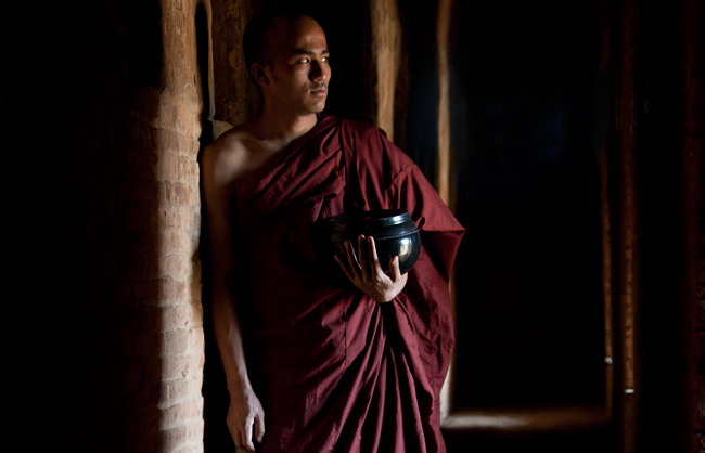 Portrait of a Burmese Buddhist Monk (Bagan - Myanmar - 2013)