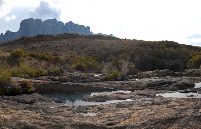 Panoramic landscape of the Andringitra National Park