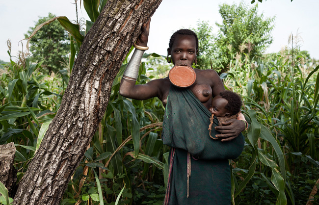 Surma (Suri) Girl and her Baby