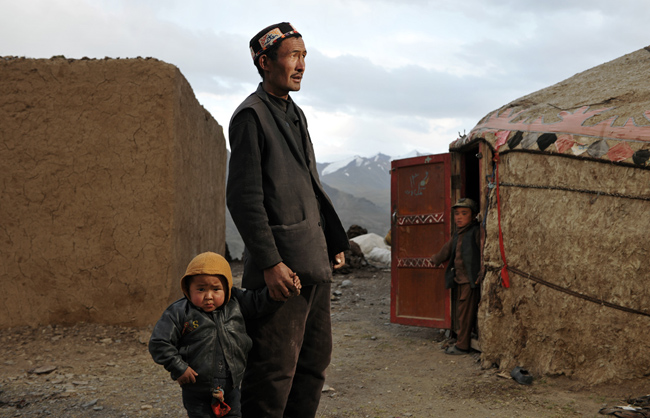 Kyrgyz father with his son. Little Pamir - Afghanistan - 2016